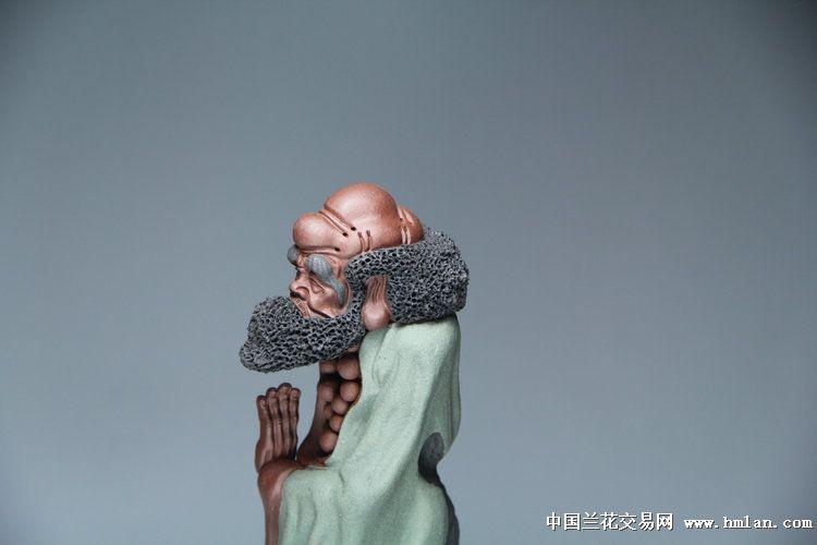 全手工雕塑悟禅渡江达摩